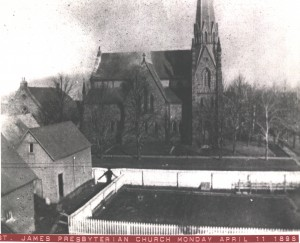 The fire of April 11, 1898 had a major impact - but the building was saved and repaired.